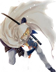 Samurai, Manga Cute, Axis Powers, Boy Art, Touken Ranbu, Sword, Manga Anime, Chibi, Cartoon