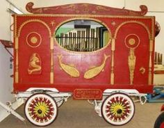 Vintage circus wagon