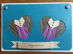 Iris folded double Heart
