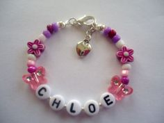 GIRLS PERSONALISED NAME BRACELET BIRTHDAY PARTY FAVOURS