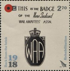 Stamp: Rehabilitation (New Zealand) (1918 Back From The Brink) WAD:NZ032.18