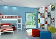 Super Hero Bedroom Design 6 Modern Super Hero Bedroom Design for Kids- red, blue, yellow