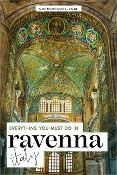 Mosaics & Mausoleums: 5 Reasons You'll Love Ravenna, Italy - Travel tips - Travel tour - travel ideas Italy Travel Tips, Travel Destinations, Travel Guide, Travel Ideas, Amalfi Coast Positano, Ravenna Italy, Ravenna Mosaics, Driving In Italy, Things To Do In Italy