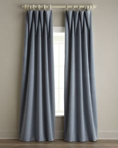 """""""Gibson"""" Lined Velvet Curtains - Horchow Drapes And Blinds, Beige Curtains, Lined Curtains, Living Room Decor Curtains, Home Curtains, Window Curtains, Thermal Drapes, Decorative Curtain Rods, Drapery Designs"""