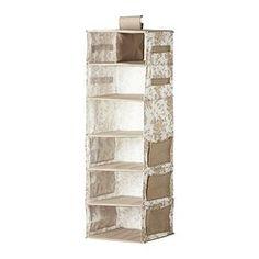 GARNITYR Storage with 7 compartments, beige, white flower $14.99
