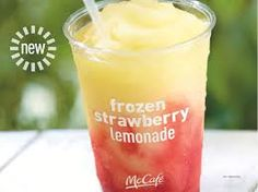 McDonald's Restaurant Copycat Recipes: Frozen Strawberry Lemonade - McDonald's Restaurant Copycat Recipes: Frozen Strawberry Lemonade - Frozen Lemonade Recipes, Frozen Strawberry Lemonade, Frozen Drinks, Frozen Fruit, Frozen Strawberries, Strawberry Syrup, Fresh Fruit, Smoothies, Smoothie Drinks