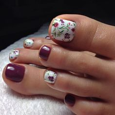 33 toe nail art designs to keep up with trends 00033 Pedicure Designs, Pedicure Nail Art, Toe Nail Designs, Toe Nail Art, Pedicure Ideas, Diy Nails, Simple Toe Nails, Classy Nails, Feet Nail Design