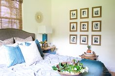 Personalized bedroom with gallery wall