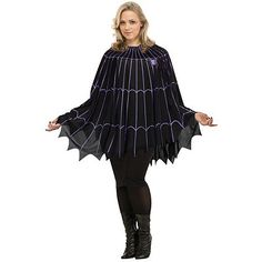 plus size halloween costumes 2015 spiderweb black and purple plus size poncho