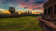 Angkor Wat is a temple complex in Cambodia and is the largest religious monument in the world, on a site measuring hectares. Most Beautiful, Beautiful Places, Angkor Wat, Places Of Interest, Skylight, Cambodia, Vineyard, Sunrise, Tours