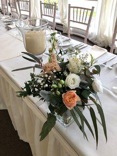 Glass Cube Wedding Reception Table Centrepiece