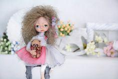 "Art Dolls - OOAK - ""Fayushka"" - Hand made doll - girl teddy - Shabby chic - Girl…"