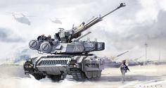 concept tanks: Concept tank art by Oscar Cafaro