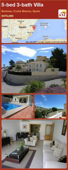 5-bed 3-bath Villa in Benissa, Costa Blanca, Spain ►€475,000 #PropertyForSaleInSpain