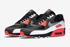 """Nike Air Max 90 OG """"Black Infrared"""" - Air 23 - Air Jordan Release Dates, Foamposite, Air Max, and Nike Free Shoes, Nike Shoes, Lps, Nike Presents, Air Mac, Air Max Sneakers, Sneakers Nike, Baskets, Nike Air Max Plus"""