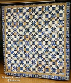 Quiltville's Quips & Snips!!: Galaxy-Gram! Blue Heavens in Champaign!