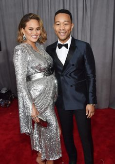 Chrissy Teigen and John Legend 2018 Grammys