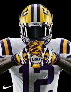 I'm obsessed with these gloves! #LSU #EyeOfTheTiger