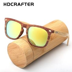 13661aa3b9 HDCRAFTER Two Tone Frame Wooden Bamboo Sunglasses with UV400 lenses. Cheap oculos  de sol ...
