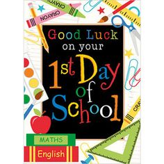 "1st Day of School A240 5 x 7"" - for the momentous day in your child's life (and yours!) mark the occasion with this lovely card from artist Laura Stone. The full range from Phoenix Trading can be found here: https://www.phoenix-trading.co.uk/web/camilladscott/"
