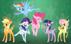 Mane six does by Sirzi.deviantart.com on @DeviantArt