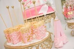 Thank Heaven For Little Girls Baby Shower via Kara's Party Ideas KarasPartyIdeas.com Printables, banners, recipes, favors, tutorials, and more! #thankheavenforittlegirls #girlbabyshower #babyshowerideas #pinkandgold #angelbabyshower #babyshowerideas (35)