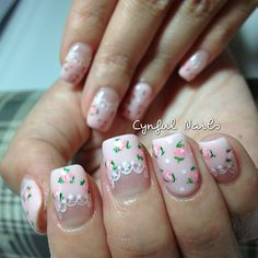 Instagram media by cynfulnails - Sweet sweet florals and lace~ #cutenails #sgnails #manicure #nails #nailart #nailporn #nailswag #nailartclub #nailsaddict #nailsdesign #nailstagram #nailartoohlala #nailartjunkie #nailartheaven #gel #gelish #gelnails #gelextension #nofilter #cynfulnails #crystals #angelpro #angelprogelly #floralnails