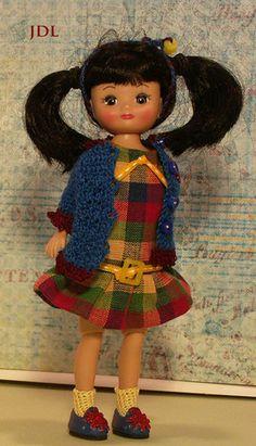 "handmade tiny 8"" Betsy McCall doll  jdldollclothes.com"