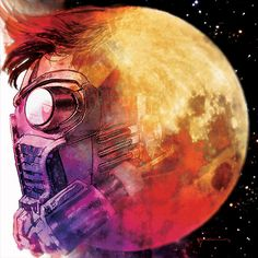 Star Lord #1 Kid Cudi's Man on the Moon Marvel Hip Hop Cover by Bill Sienkiewicz