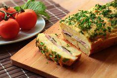 Egg Sandwich Bake with Ham and Gruyere.