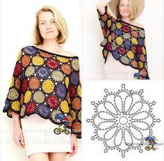 How to Crochet a Little Black Crochet Dress - Crochet Ideas Crochet Diagram, Crochet Motif, Crochet Lace, Crochet Stitches, Crochet Patterns, Black Crochet Dress, Crochet Cardigan, Crochet Shawl, Pull Crochet