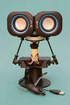 3D printed animatronic robot head from Adafruit #3dPrintedRobotics