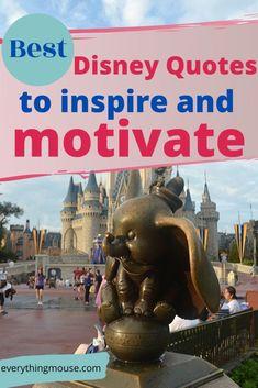 Inspirational Disney Quotes - EverythingMouse Guide To Disney Walt Disney Inspirational Quotes, Disney Quotes To Live By, Life Quotes Disney, Best Disney Quotes, Inspiring Quotes, Up Movie Quotes, Pixar Quotes, Disney Princess Movies, Disney Pixar Movies