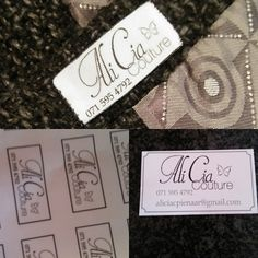 My new labels and business cards!!!