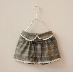 A wardrobe must-have, Complete with an elastic waistband for a perfect fit, these classic plaid shorts can be styled with a basic top for an elegant r Rose Marie, Heirloom Sewing, Boho Shorts, Vintage Inspired, Girl Outfits, Short Dresses, Design Inspiration, Unique, Girl Things
