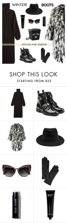 """""""This Boots Are Made For Walking"""" by ivka-detektivka ❤ liked on Polyvore featuring Apiece Apart, Marc Jacobs, Simonetta Ravizza, STELLA McCARTNEY, Chanel, AGNELLE, Bobbi Brown Cosmetics, norway, winterboots and winterstyle"""