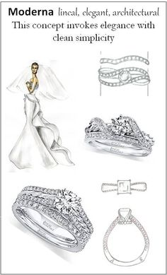 The Angel Sanchez Bridal Collection is elegant, yet architectural for clean, sophisticated ring designs. Angel Sanchez, Pretty Engagement Rings, Kay Jewelers, Ring Finger, Bridal Collection, Ring Designs, Getting Married, Sparkles, Dream Wedding