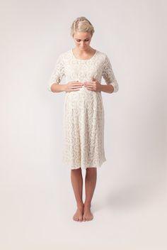 Cream Maternity Romance Dress