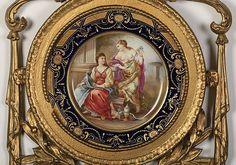 (2) 19th c. Royal Vienna framed plates