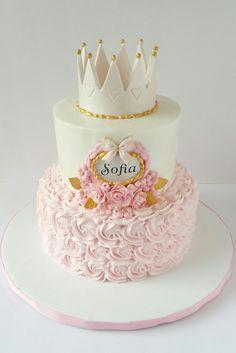 1st Birthday Cake For Girls, Elegant Birthday Cakes, Ballerina Birthday Parties, Cute Birthday Cakes, Beautiful Birthday Cakes, Princess Birthday Party Decorations, Princess Theme Birthday, Princess Party, Gateau Baby Shower