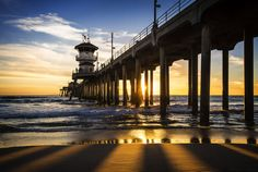 Huntington Beach Pier, by C.T. Bui