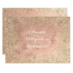#Will You Be My Bridesmaid  Copper Gold Confetti Card - #bridesmaid gifts #bridal bride wedding marriage