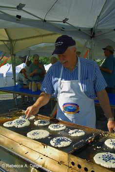 August is Wild Blueberry Month in Maine. Maine blueberries are 10 X's better than anywhere else. They just are.