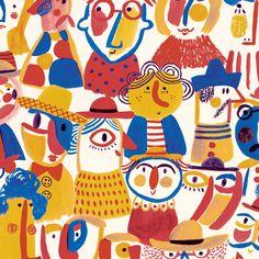 Colorful children's book illustrations by Brazil-based illustrator Jana Glatt Cut Paper Illustration, Graphic Design Illustration, Graphic Illustration, 3d Figures, Buch Design, Cute Cartoon Wallpapers, Drawing For Kids, Map Art, Pattern Wallpaper
