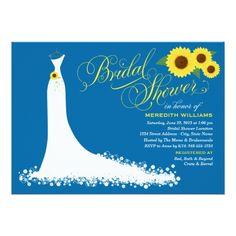 Butterfly Wedding Invitations Bridal Shower Invitation | Sunflower Wedding Gown