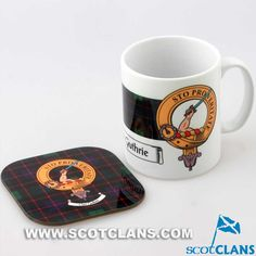 Guthrie Clan Crest Mug and Coaster Set