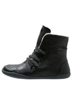 Black camper boots