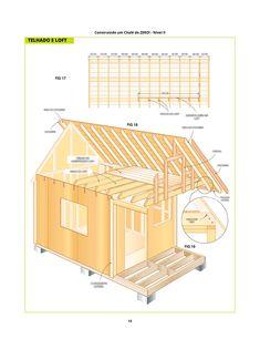Guia simples e prático para construir seu próprio chalé de madeira de maneira fácil com plantas e passo-a-passo detalhados! Building Materials, Simple, Plants