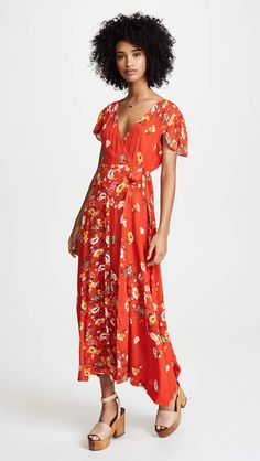 Free People Gorgeous Jess Wrap Dress. #affiliate #dresses #freepeople