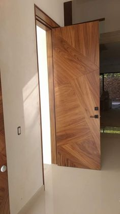 Modern Entrance Door, Main Entrance Door Design, Modern Wooden Doors, Modern Exterior Doors, Wooden Front Door Design, Wooden Front Doors, Bedroom Door Design, Door Design Interior, Flush Door Design